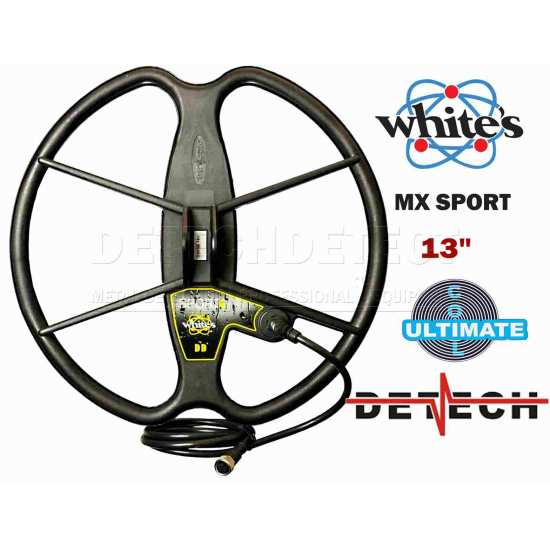 DETECH Search Coil 13″ Ultimate DD for Whites MX Sport and MX7 Metal Detector   Detech   13 Ultimate DD