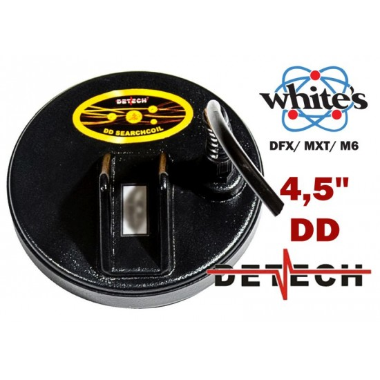 DETECH 4.5 DD Search Coil For Whites DFX, MXT, M6 Metal Detectors | Detech | 4,5 DD